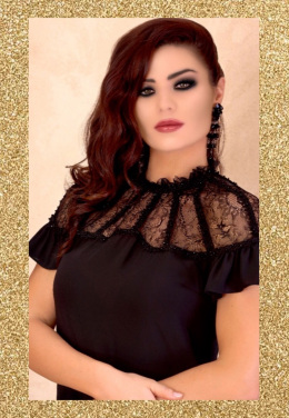f13c22151edaf Shop Decorated Crystals One Side White Blouse for AED 250 by Agatha ...